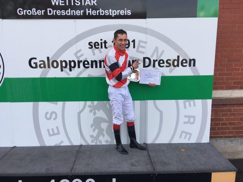 Dresdner Jockey gewinnt Dresdner Herbstpreis